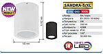 SANDRA-5/XL Светильник светодиодный (5 Вт накладной), фото 4