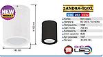 SANDRA-10/XL Светильник светодиодный (10 Вт накладной), фото 4