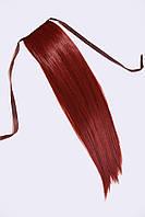 Шиньоны на ленте №1.цвет ярко-красный