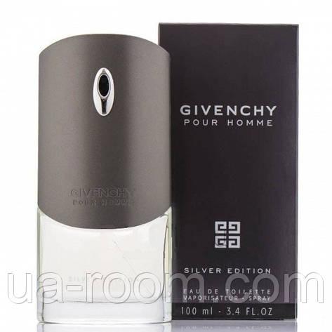 Givenchy Pour Homme Silver Edition, мужская туалетная вода 100 мл. , фото 2