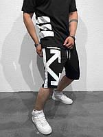 Мужские шорты Off White черные отличное качество Реплика