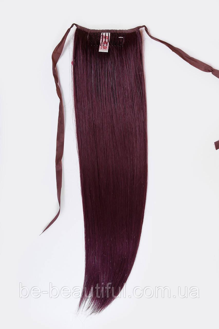 Шиньоны на ленте №1 цвет баклажановый