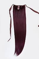 Шиньоны на ленте №1.цвет баклажановый