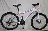 """Велосипед Crosser Trinity 24"""" рама 15"""", белый горный алюминиевый, фото 1"""