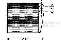 Радиатор печки NISSAN MICRA C+C III, MICRA III, NOTE, NV200 / EVALIA; RENAULT CLIO, CLIO III, MODUS, TW