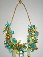 Ожерелье гламурное  на шею из натуральных камней  - в подарок женщинам и девушкам.
