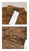 Женское платье замшевое на кнопках с широким поясом DNK