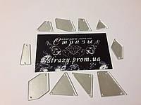 Зеркальные пришивные стразы Микс размеров 50шт Silver, фото 1