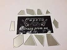 Зеркальные пришивные стразы Микс размеров 50шт Silver