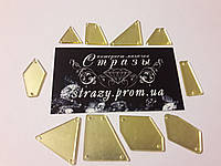 Зеркальные пришивные стразы Микс размеров 50шт Champagne, фото 1