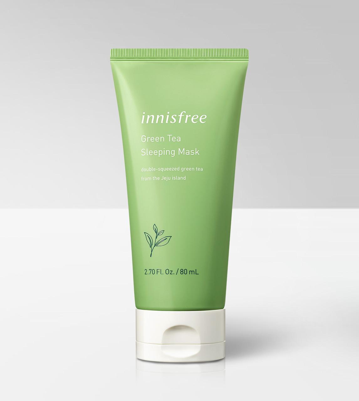 Увлажняющая ночная маска с экстрактом зеленого чая Innisfree Green Tea Sleeping Mask