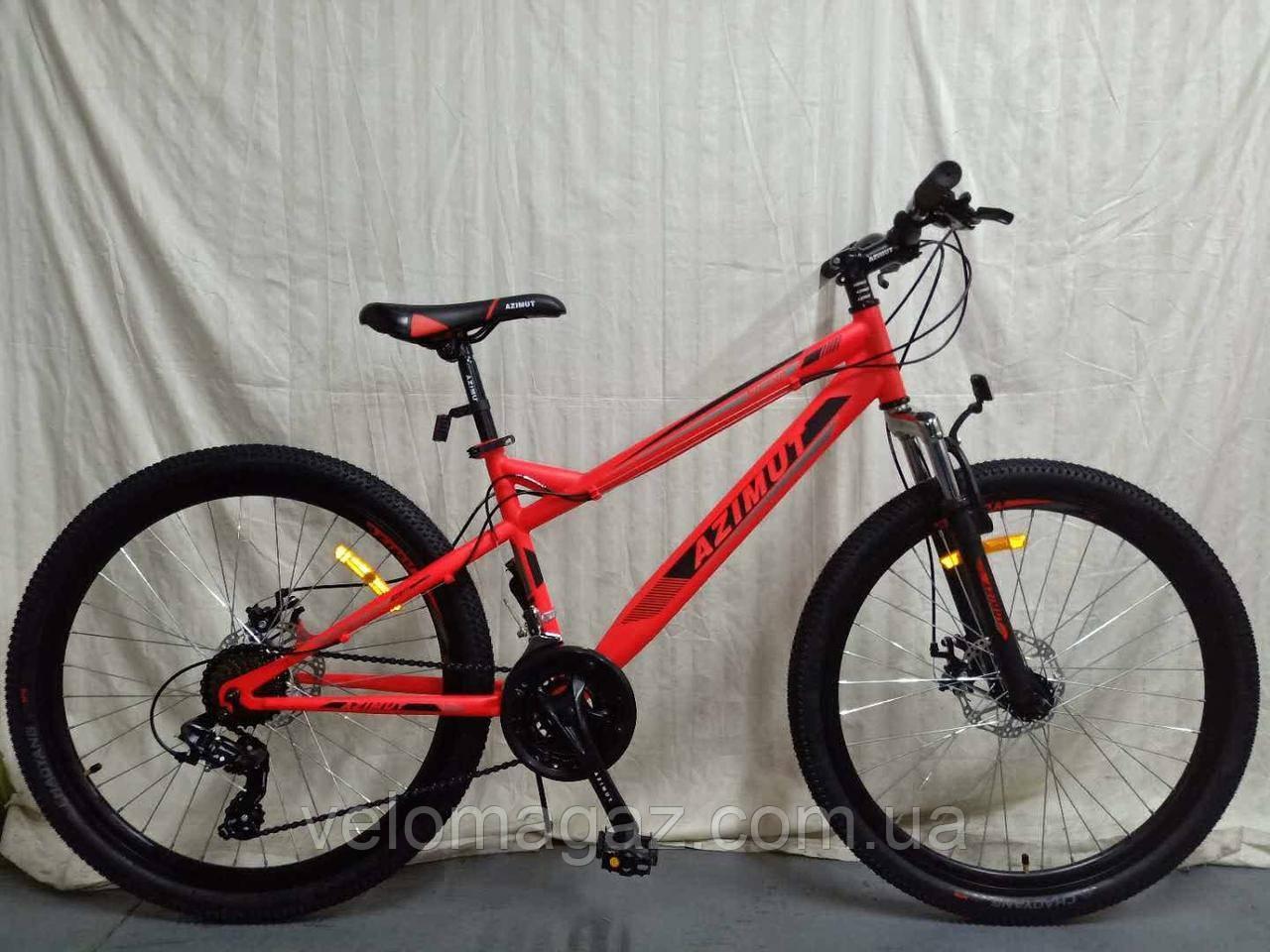 """Велосипед гірський Azimut Hiland 26"""" рама 15"""", червоний"""