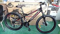 """Велосипед гірський Azimut Hiland 26"""" рама 15"""", чорно-червоний, фото 1"""