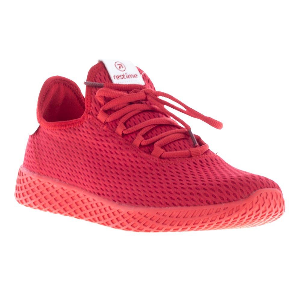 Мужские кроссовки Restime, сетка, красные PML19169 RED-WHITE