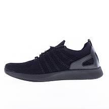 Мужские черные кроссовки сетка Restime UMB19622, BLACK, фото 3