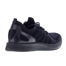 Мужские черные кроссовки сетка Restime UMB19622, BLACK, фото 2