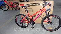 """Велосипед горный алюминиевый Crosser INFINITY 24"""" рама 15"""", красный, фото 1"""