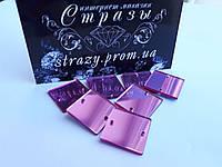 Зеркальные пришивные стразы A10 15*15mm Pink, фото 1