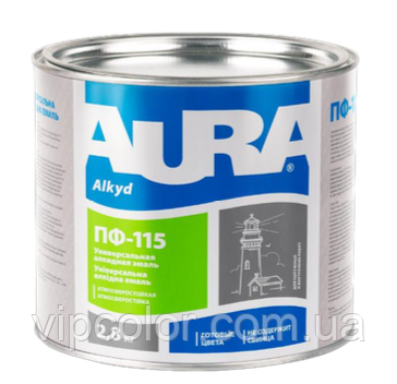 Aura ПФ-115, Синяя 2,8 кг защитная эмаль для металла и дерева арт.4820140312636