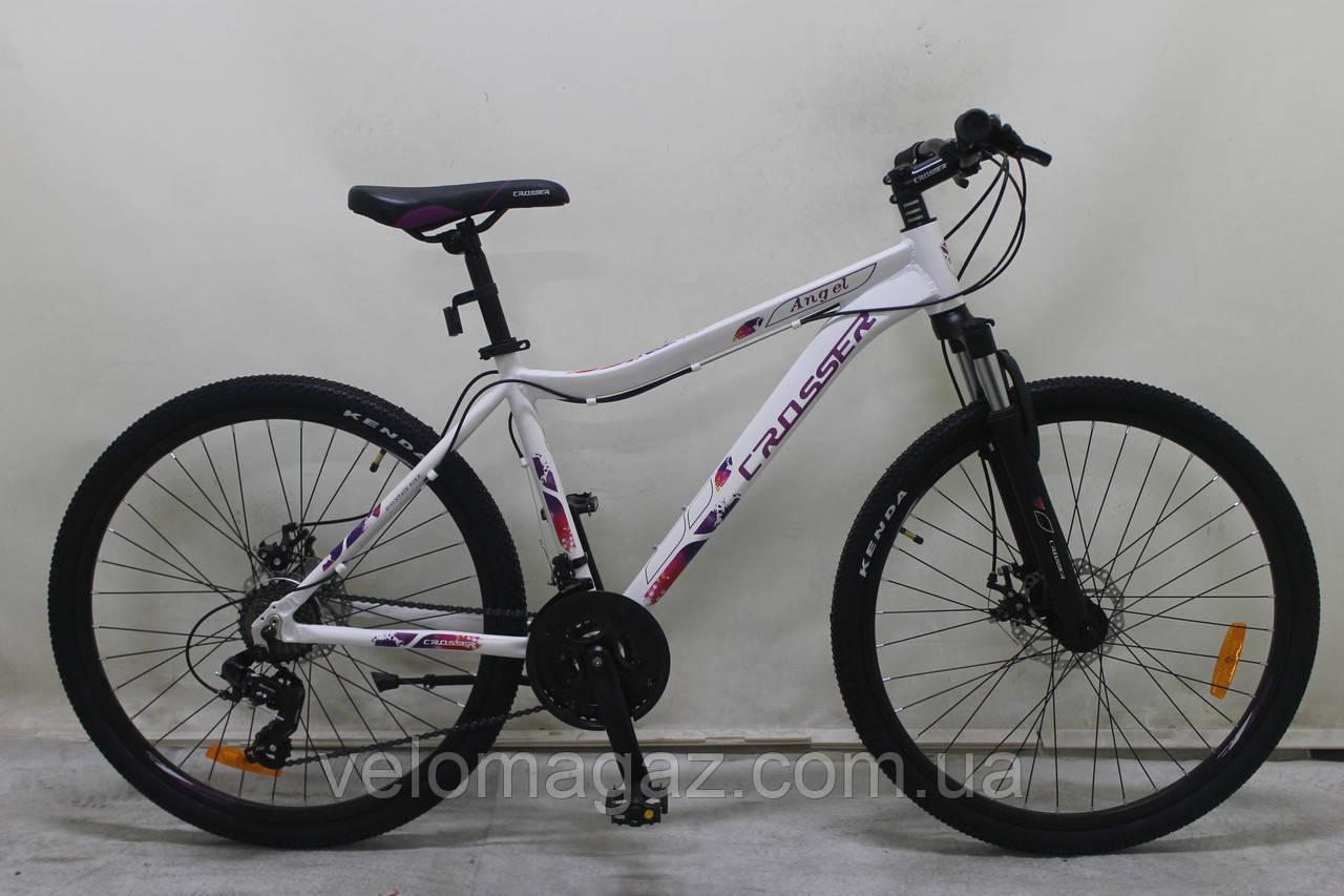 """Велосипед Crosser ANGEL 29"""" рама 16,5"""", белый, горный алюминиевый"""