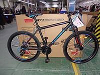 """Велосипед горный азимут Crosser SPORT 26"""" алюминиевая рама 17"""", черный"""