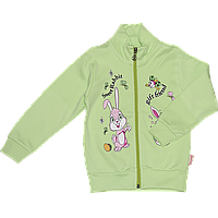 Детская спортивная кофта р 104 (98) для девочки плотная демисезонная ткань ИНТЕРЛОК 2723 Салатовый