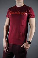 Футболка мужская летняя Reebok, цвет красный