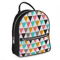 Рюкзак 3D міський сірий Трикутник (серый рюкзак геометрический риунок)