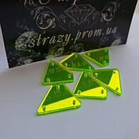 Дзеркальні пришивні стрази A15 16*20 Neon Green