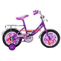 Детский велосипед Mustang Принцесса 12 дюймов фиолетовый