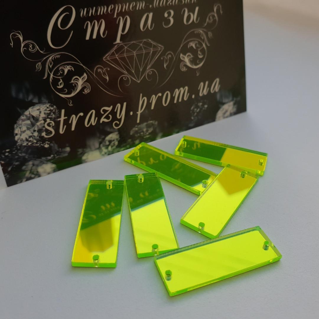 Зеркальные пришивные стразы A19 10*28 Neon Green