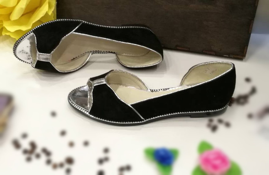 Балетки кожаные черного цвета. / shoes for women LM-1