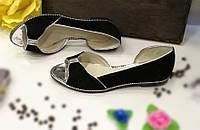 Балетки кожаные черного цвета. / shoes for women LM-1, фото 1