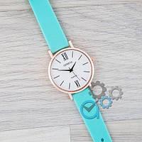 Женские часы Geneva (Женева) Голубой ремешок Силикон\ наручные часы\ жіночі часи, годинник