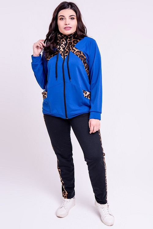 01071495ac5 Модный женский спортивный костюм Альфа электрик (52-64) - цена 690 ...