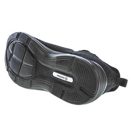 Летние черные кроссовки Restime PMB19811 Black, сетка, фото 2