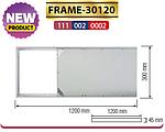 FRAME-30120 рамка накладна 300х1200 мм для панелі ZODIAK-36, фото 2