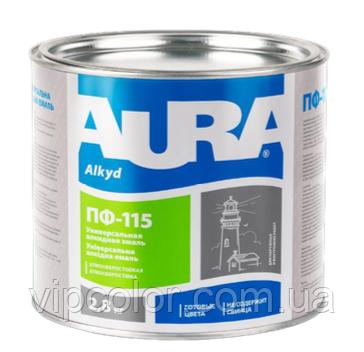 Aura ПФ-115, Серая 2,8 кг защитная эмаль для внутренних и наружных работ арт.4820140312810