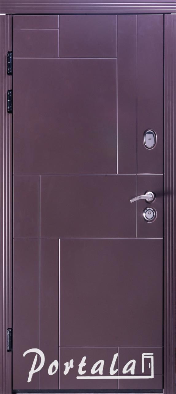 Двери уличные, МДФ-покраска по RAL,серия Неаполь-2 гнутый профиль, коробка 150 мм, полотно 105 мм