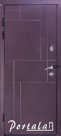 Двери уличные, МДФ-покраска по RAL,серия Неаполь-2 гнутый профиль, коробка 150 мм, полотно 105 мм, фото 2