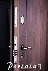 Двери уличные, МДФ-покраска по RAL,серия Неаполь-2 гнутый профиль, коробка 150 мм, полотно 105 мм, фото 3
