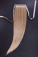 Шиньоны на ленте №1.цвет мелирование светло-русый с блондом