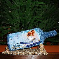 """Декор бутылки в морском стиле """"И во сне и наяву..."""" Сувениры морской тематики"""