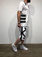 Мужские шорты Off White белые отличное качество Реплика, фото 1