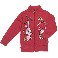 Детская спортивная кофта р 86 (92) для девочки плотная демисезонная ткань ИНТЕРЛОК 2723 Малиновый