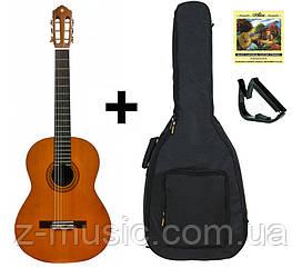 Гитара классическая Yamaha С40 + чехол водонепроницаемый, каподастр, струна