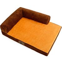 Лежак-диван для собак коричневый