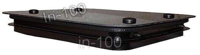 Люк вентиляционный автомобильный (стекло) 50*50 см., фото 1