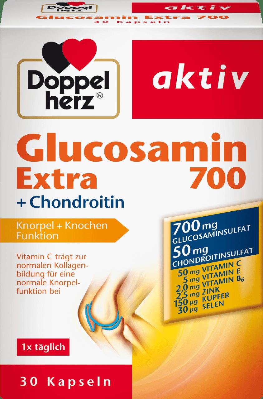 Биологически активная добавка Doppelherz aktiv Glucosamin Extra 700 + Chondroitin, 30 шт.