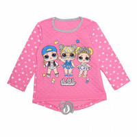 Кофта для девочки, розовая. Звездная Кукла Лол